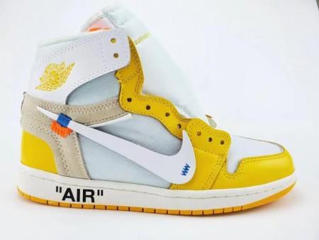 Air Jordan 1 Retro High Off-White Yellow