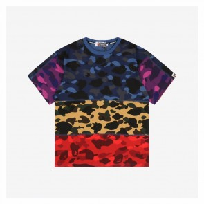 Bape 20ss Retro Multicolor Camouflage Short Sleeve