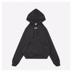 Off White 20ss Black Hooded Sweater Crayon