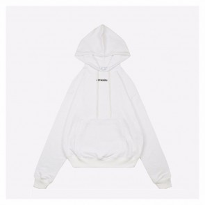 Off White 20ss White Hooded Sweater Crayon