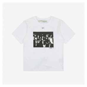 Off White Co Virgil 20ss Band Character Printing Black Short Sleeve