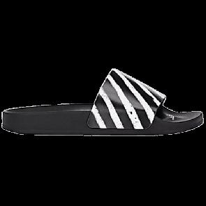 OFF-WHITE Spray Stripes Slide Black White (No Shoe Box)