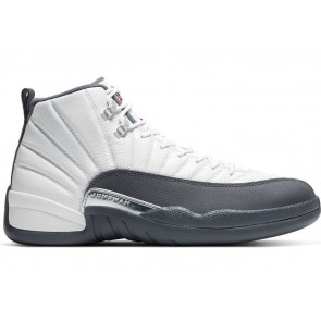Air Jordan 12 Retro White Dark Grey
