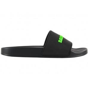 Balenciaga Pool Slide Black Fluo Green