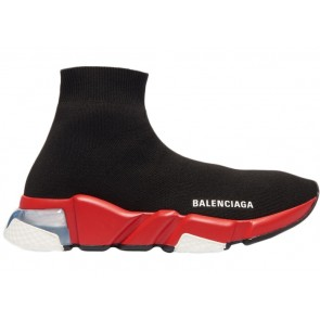Balenciaga Speed Clear Sole Black Red