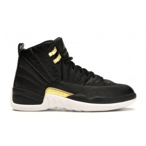 Air Jordan 12 Retro Black Metallic Gold White