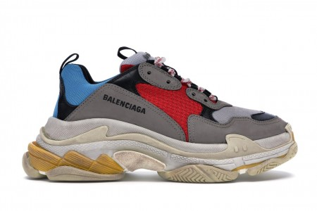 Balenciaga Triple S Grey Red Blue (2018 Reissue)